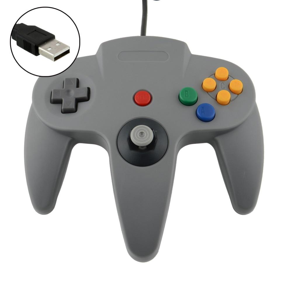 LBKAFA Jogo USB Wired Controlador de Jogo Joypad Joystick Gamepad USB Para Nintendo Game cube Para N64 64 PC Para Mac gamepad