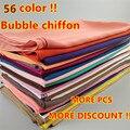 Hot 56 Color de Alta Calidad de la burbuja Simple clásico de la gasa del color sólido chales islam cubierta playa bufanda musulmán hijab headband/bufandas