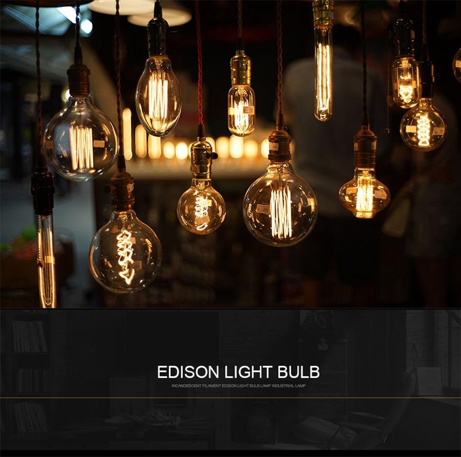 E27 40w Vintage Lamp Edison Bulb Chandelier Lighting G125