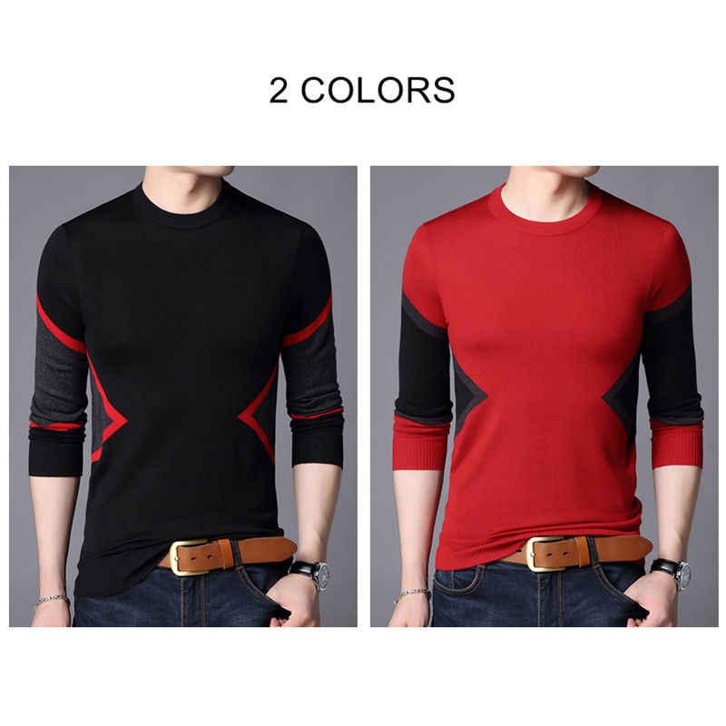 COODRONY Brand Sweater Men Autumn Winter Wool Sweaters Streetwear Fashion O-Neck Pullover Men Slim Fit Knitwear Pull Homme 91067