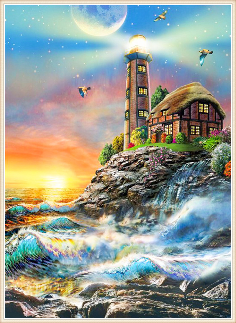 Diamond embroidery Diy diamond Painting Cross Stitch Beacon rockcube drill picture 5D Needlework diamond Mosaic Home Decoration