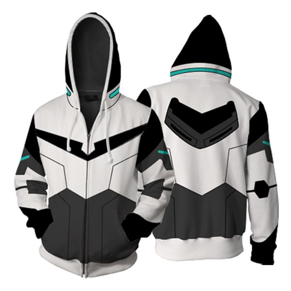 New Voltron Legendary Defender Lance Shiro jacket cosplay Princess Allura Costumes 3D Printing zipper Sweatshirts Hooded sweater