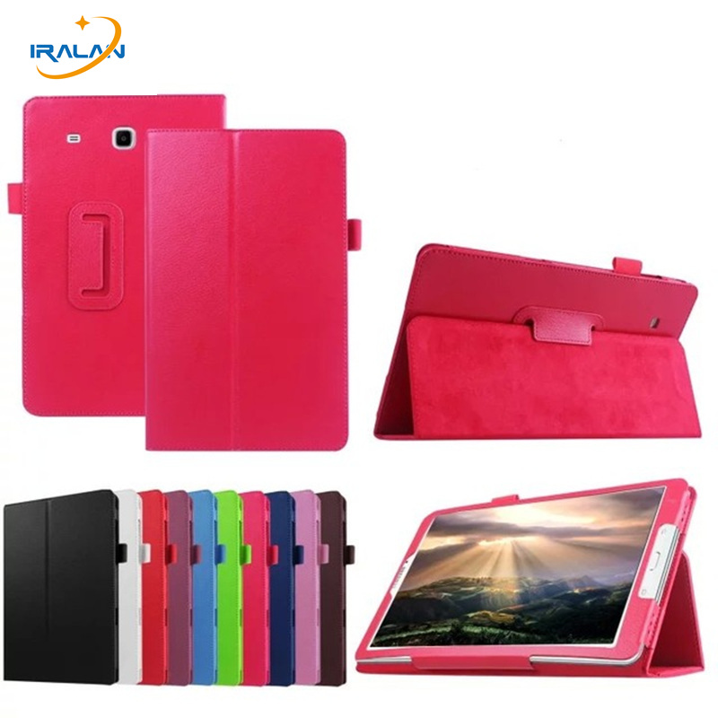 new arrival 3f37a ae863 2018 Hot Litchi Pattern Leather Case For Samsung Galaxy Tab E 8.0 T377  T377V SM-T377 Stand Flip Tablet Protection Cover