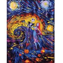 Full Square,Diamond Embroidery,Van gogh starry sky 5D DIY Diamond Painting,Stitch Cross,3D,Diamond Mosaic,mazayka,pattern JS1661 full diamond embroidery world famous the church at auvers by vincent van gogh 50cm 40cm diy diamond painting