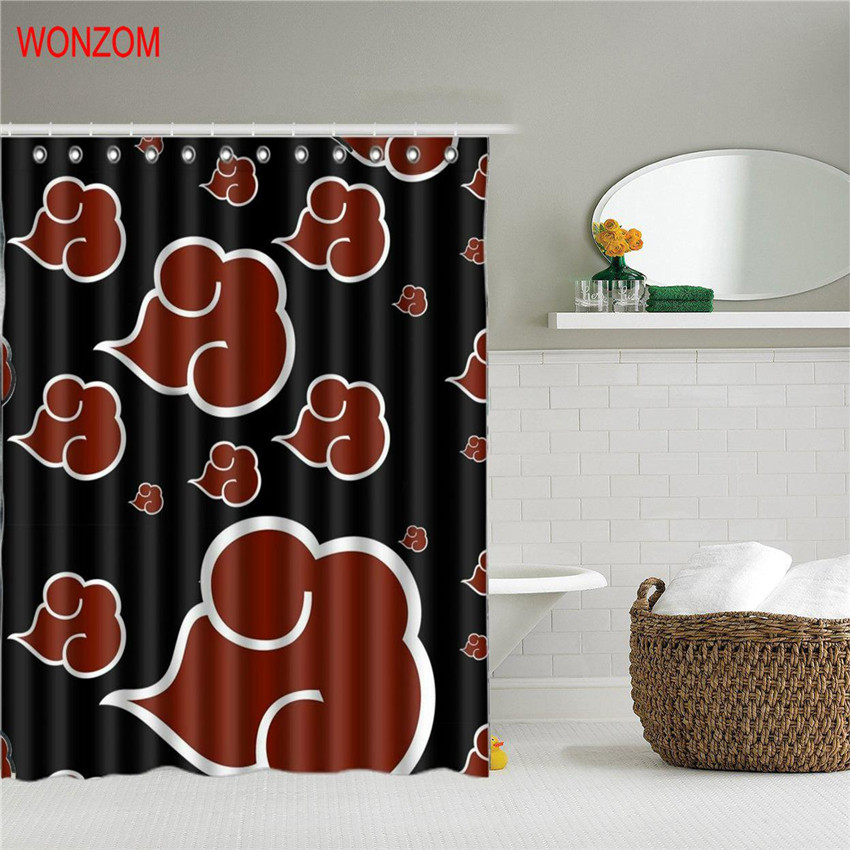 WONZOM 3D Horror Eyes Polyester Shower Curtains For Bathroom Decor Modern Bath Waterproof Curtain with 12 Hooks 2018 Accessories in Shower Curtains from Home Garden