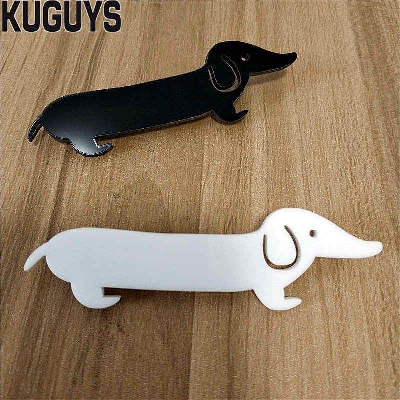 Kugars mode acrylique bijoux personnalisé Vintage teckel broches pour femmes Animal chien collier broche sac broches accessoires à la mode