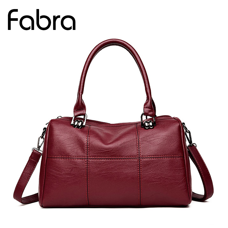 Fabra New Fashion Shoulder Bags Red Luxury Handbags Women Bags Designer Casual Tote PU Leather Brand Small Solid Bag Classic sgarr new pu leather women messenger bag fashion luxury designer solid black casual tote bags famous brand party shoulder bag