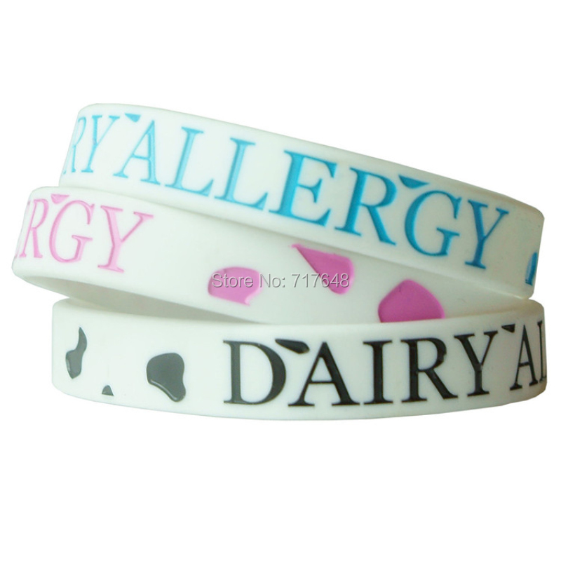 300pcs Dairy Allergy Wristband Silicone Bracelets Free Shipping By Fedex In Cuff From Jewelry Accessories On Aliexpress Alibaba Group