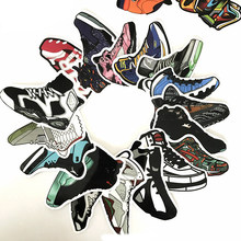 100pcs/set Basketball Sneakers Sticker Waterproof For Wall Fridge Suitcase Bike Sliding Plate Car Styling Stickers Gift F5(China)