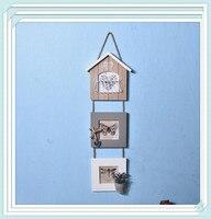 Estilo europeu photo frame Criar combinação moldura de madeira Da Parede Artes decorativas e artesanato estúdio de Fotografia adereços de decoração Para Casa