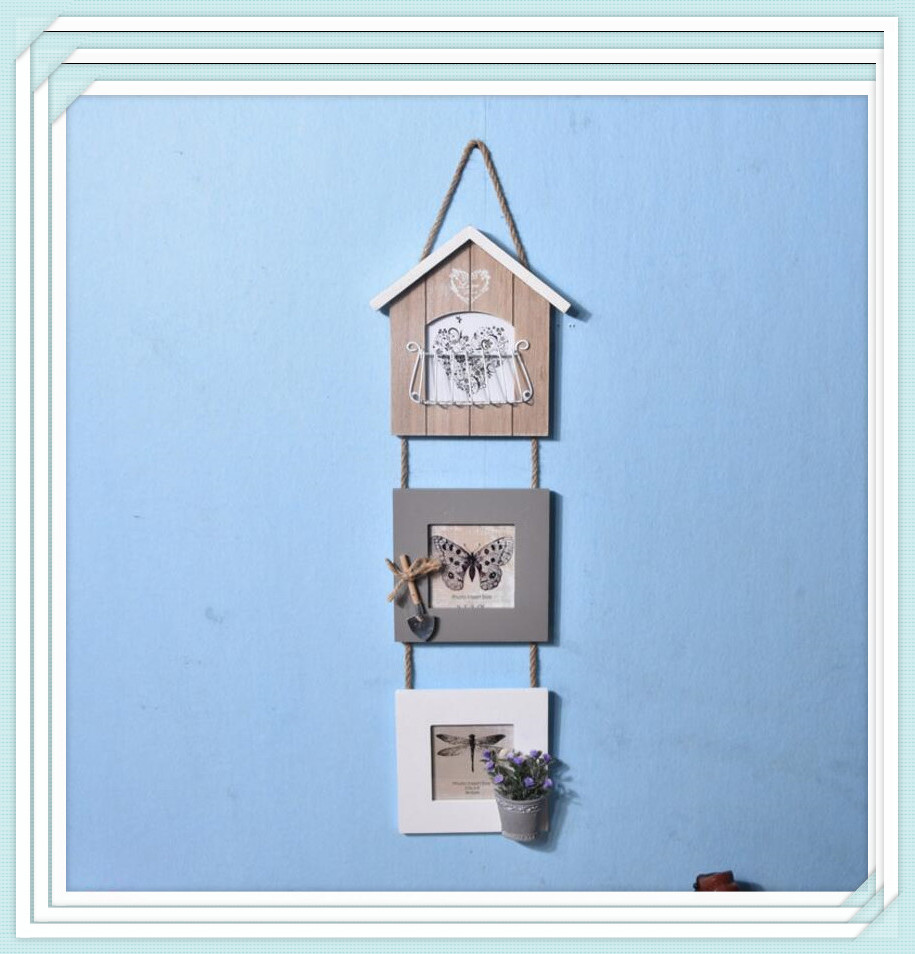 European style photo frame Create combination wood frame Wall ...