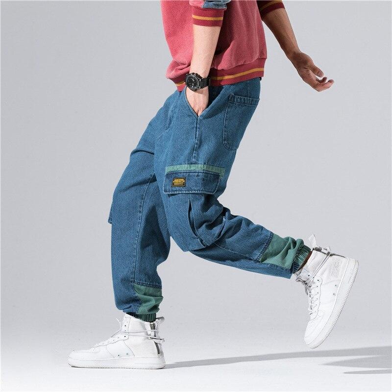 Style Safari Pantalon Pantalons Hop bleu Noir Baggy La Lâche Hip Joggers Décontracté Cargo Toute Streetwear Poches Militaire Longueur wFqXYExEA