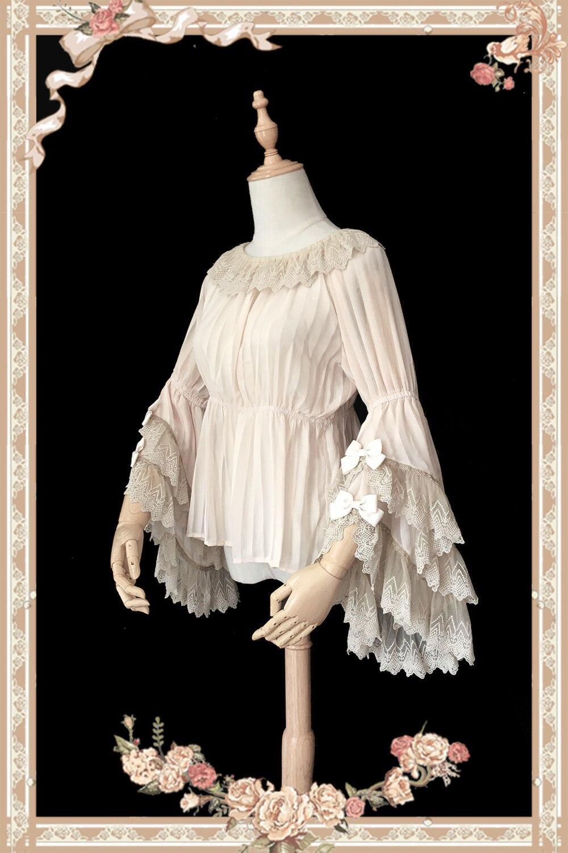 Magic Tea Ice Cream Party Lolita Dress Cosplay Costume Blouse Chiffon Sleeves Blouse