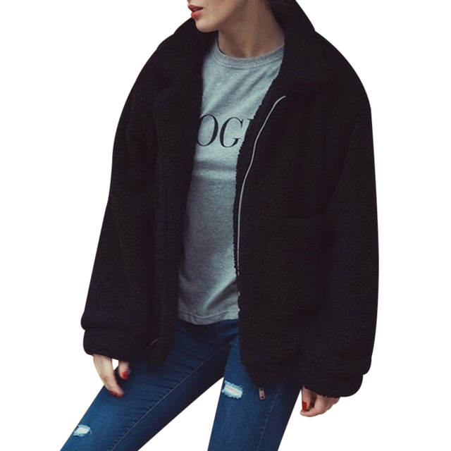 567577d42cc Online Shop Plus Size S-3XL Women Fashion Fluffy Shaggy Faux Fur Warm  Winter Coat Cardigan Bomber Jacket Lady Coats Zipper Outwear Jackets