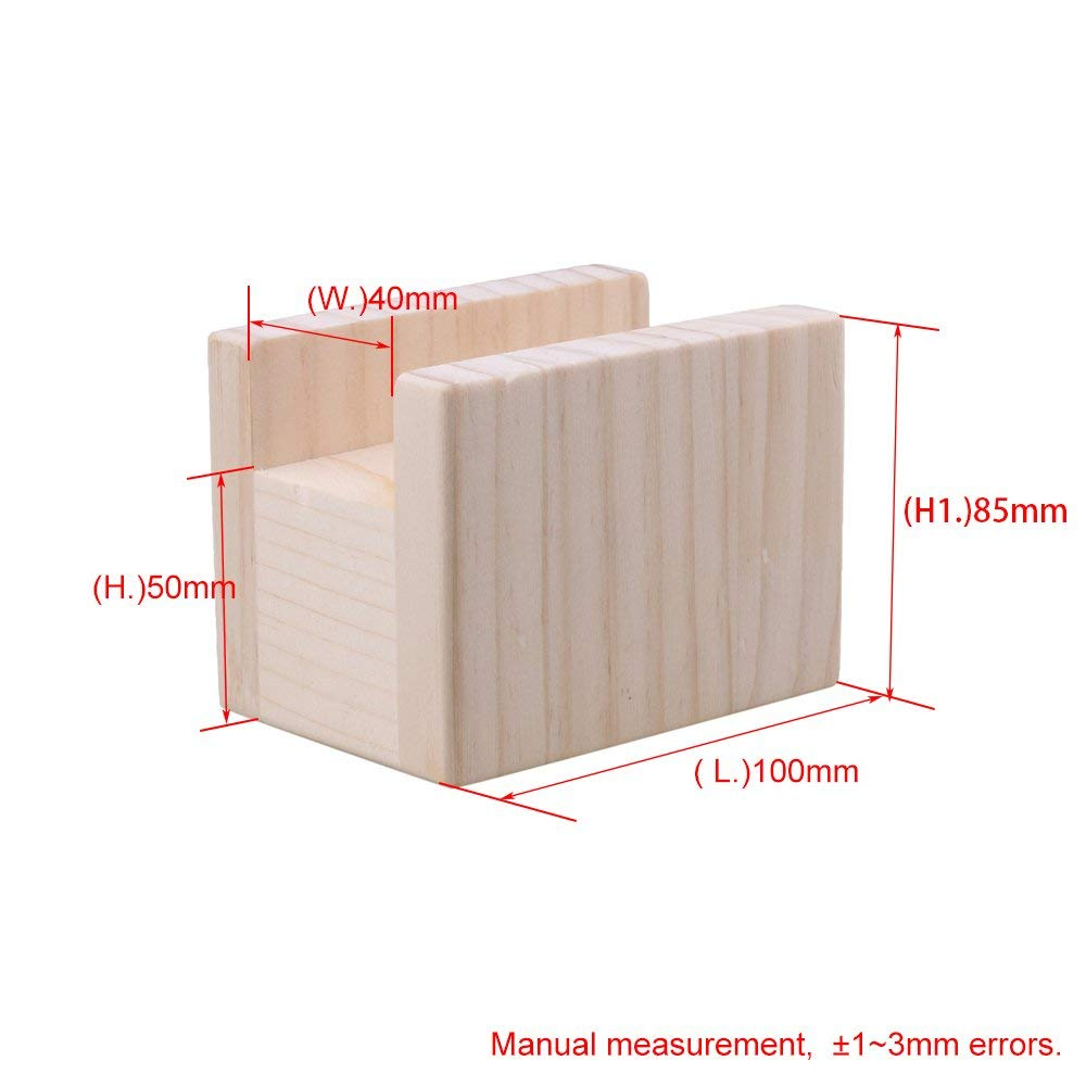 2Pcs 10x7x8.5cm Wood Table Desk Bed Riser Lift Furniture Lifter Storage For 4cm Groove Feet Up To 5cm Lift