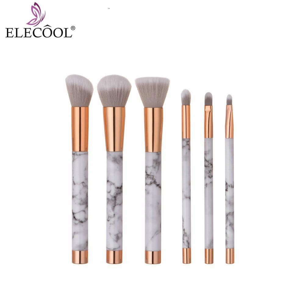 ELECOOL 10/9/6/1PCS Marbling Makeup Brushes Set Portable Nylon Brush Eyeshadow Cosmetic Tools Marble Texture Brushes /bag Holder