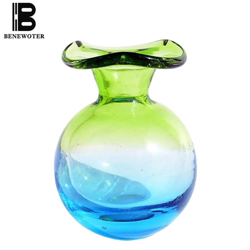 Groene Glazen Vaas.Us 22 22 50 Off Creatieve Europese Mini Leuke Korte Handgemaakte Kleine Pauw Groene Art Glazen Vaas Aromatherapie Essentiele Olie Fles