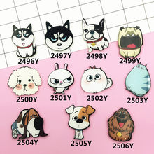 Acrylic Badge HARAJUKUHusky anjing Husky Teddy Pin up anjing Lucu Gelombang Broche bros XZ135(China)