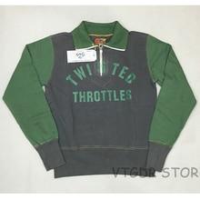 Bob Dong Vintage 1/2 Zipper Colorblock Sweatshirt Men's Motorcycler Pullover For Biker Rider Racing Jersey