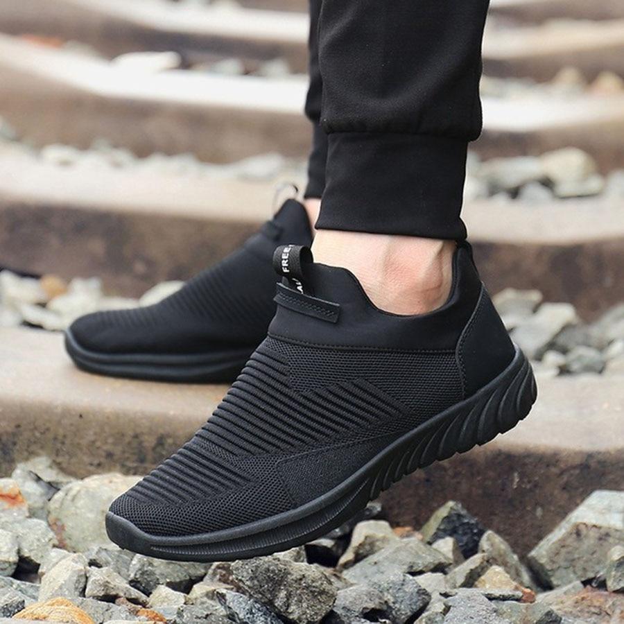 Sport De Doux Automne Flyknit Et Chaussures Concis Nouveau Tendance Course Hommes Occasionnels Respirant Mâle Noir Confortable CwRHq