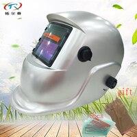 Auto Darkening Welding Helmet with glass glove lighted Solar and li battery grinding DIN Welding Mask Full Face HS02(2200DE)Y