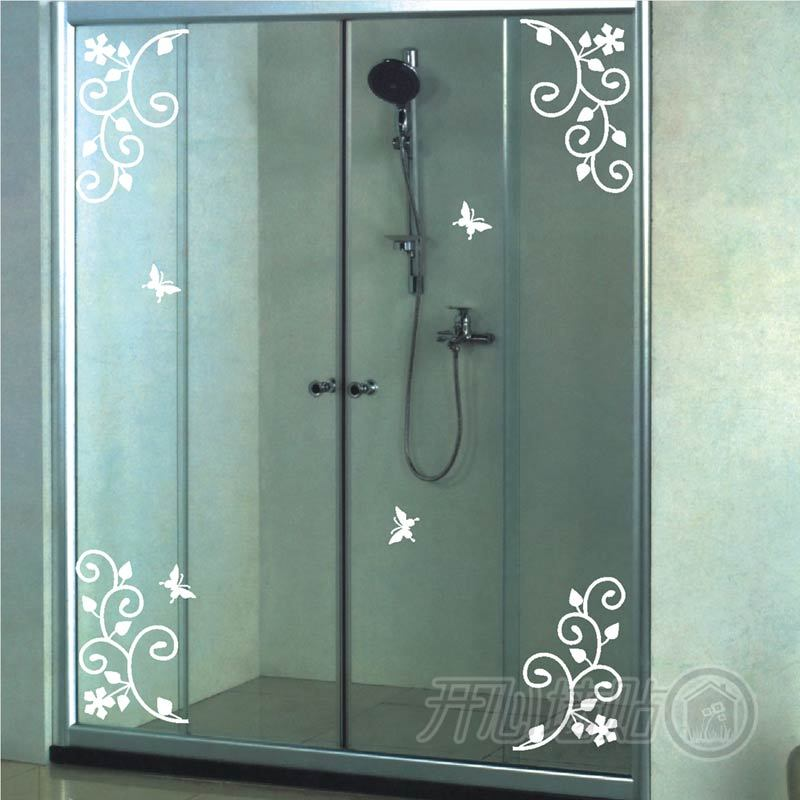 adesivi murali autoadesivi di vetro bagno armadio da. Black Bedroom Furniture Sets. Home Design Ideas
