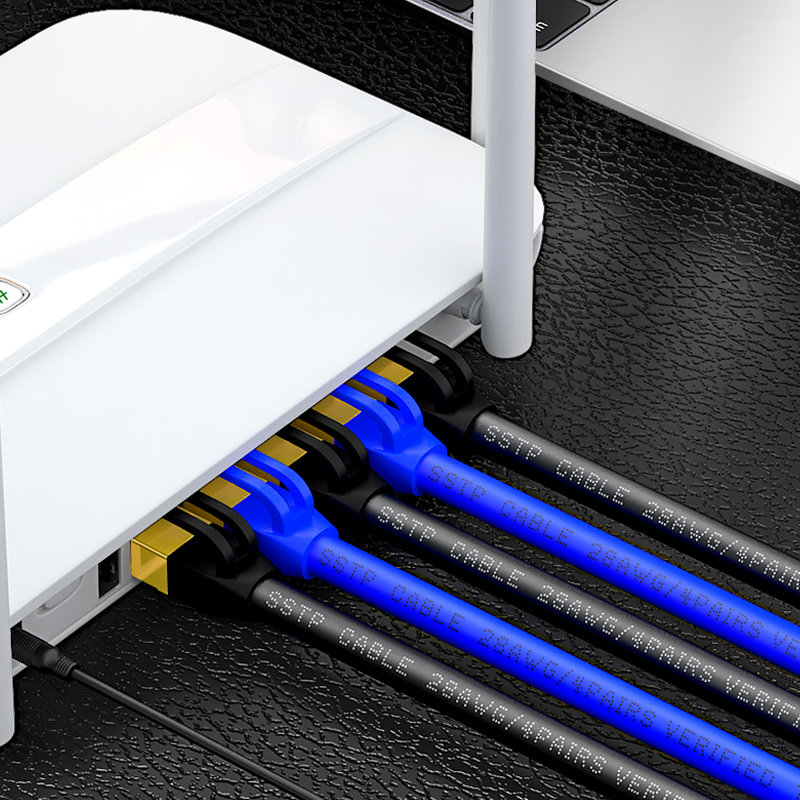 Image 2 - SAMZHE Cat7 SSTP Cable Ethernet Patch Cable for RJ45 Computer,XBox Networking LAN Cords 0.5/1/1.5/2/3/5/8/10/15/20/25/30/40/50m