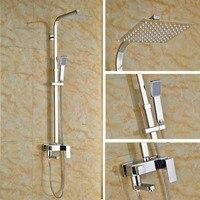 Современный Смеситель для ванной комнаты набор для душа с квадратной 8 насадка для душа и ручной держатель для душа настенный смеситель для