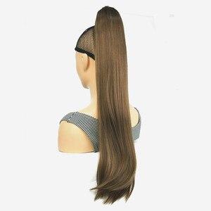 Image 3 - StrongBeauty Klaue Clip Pferdeschwanz Lange gerade Haarteil Synthetische Haar Verlängerung