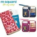 M square cobrir no documento portador de passaporte carteira de viagem passaporte organizador titular bolsa de negócios id titular do cartão de crédito