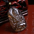 Natural ice kinds of obsidian pendant necklace hang drop the void Tibet bodhisattva to tiger cow mascot