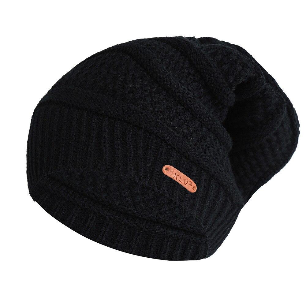 2019 Men Women Baggy Warm Crochet Winter Wool Knit   Beanie   Skull Slouchy Caps Hat For Girls Gorras Mujer #O