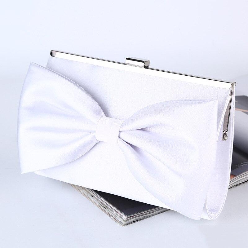 Mantian Big Bow Clutch Wedding Party Purse Evening Bag White Handbag 274 luxury crystal clutch handbag women evening bag wedding party purses banquet