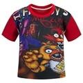4-12 Лет детская одежда мальчиков мультфильм футболку ребенок летом с коротким рукавом мода Футболка дети мальчики аниме шорты Майки топы печати
