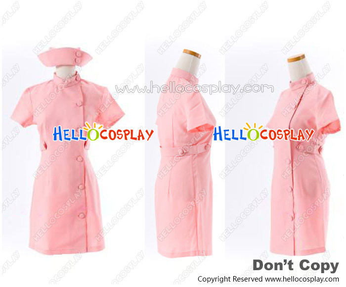 Suzumiya Haruhi Cosplay Mikuru Asahina Pink Nurse Dress Costume H008