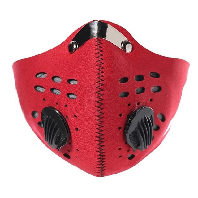 Cycling Face Mask Unisex Outdoor Anti Smoke Dust Air Purifying Face Mask Carbon Filter Multi Layer