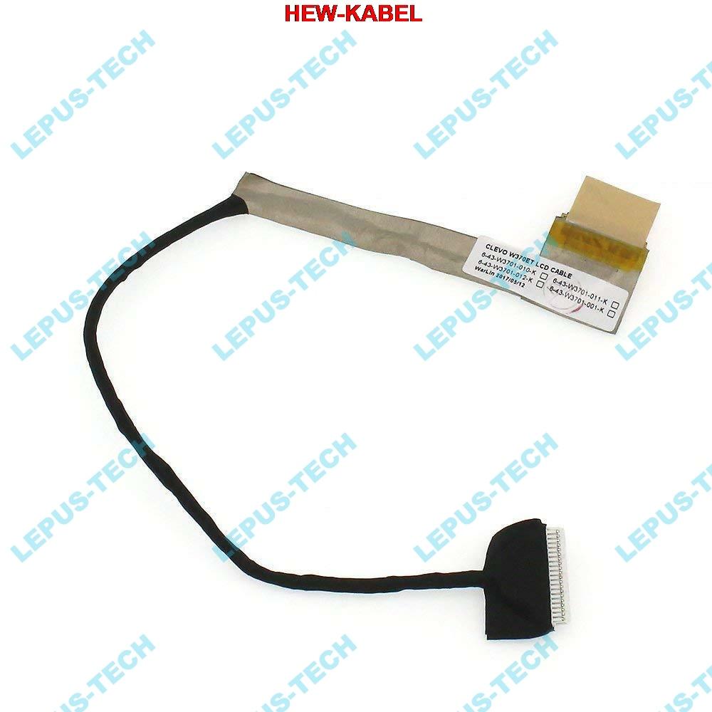 Original LVDS Clevo W370ET LCD LED Video Screen Flex Cable  6-43-W3701-011-K