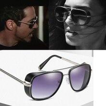 129e363360 Nueva Marca Samjune Iron Man 3 Matsuda TONY stark Gafas de sol hombres  Rossi revestimiento vengadores retro Vintage Oculos Gafas.