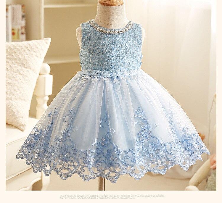Prinses jurk voor bruiloft 2018 lente en zomer bloemenmeisje jurk - Kinderkleding - Foto 4