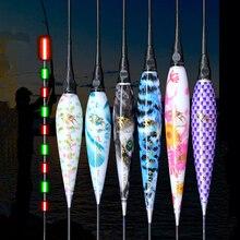 2 unids/lote Led boya flotante de pesca + 2CR425 batería de luz nocturna brillante flotadores electrónicos carpa Bobbers Pecsa accesorio de aparejos de pesca