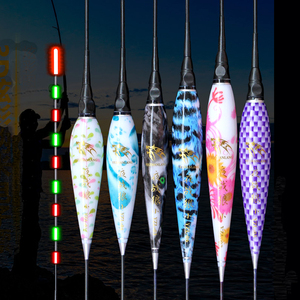 Image 1 - Galleggiante da pesca con 2 Led, galleggiante da pesca con batteria 2CR425, luce notturna, galleggiante elettronico incandescente, carpa, Bobbers, accessorio per attrezzatura da pesca