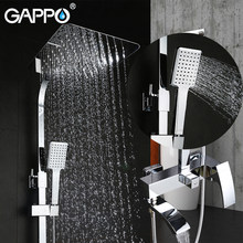 GAPPO shower system showers mixer tap Bath Basin taps waterfall shower head wall mixer faucets rainfall shower set(China)