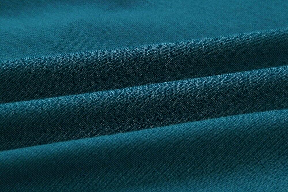 19 New Summer Fashion Women Casual Short Sleeve O-Neck Straight Black Gray Blue Dress Loose Plus Size Pocket Cotton Midi Dress 31