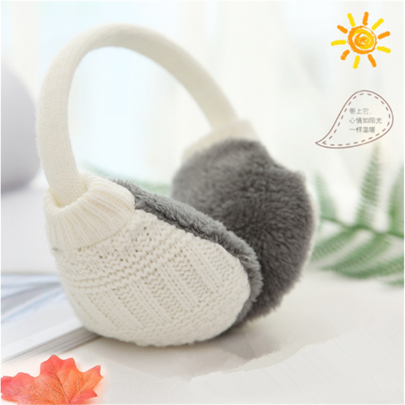 Winter Ear Cover Women Warm Knitted Earmuffs Ear Warmers Women Girls Plush Ear Muffs Earlap Warmer Headband Removable Cleaning