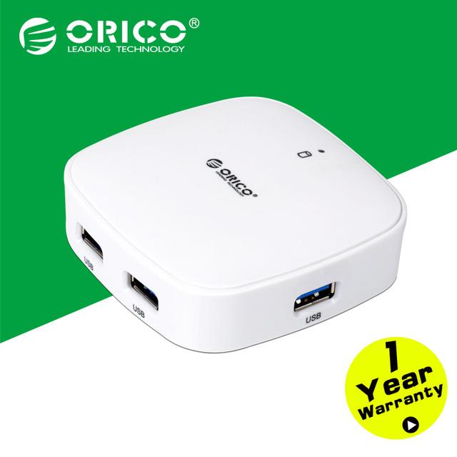 ORICO Superspeed Mini USB 3.0 4 Puertos HUBs para el Ordenador Portátil/Ultrabook-White/Black (H4818-U3)