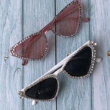 ZAOLIHU Fashion Women Cat Eye Sunglasses Bling Bling Diamond Female Eyewear UV40