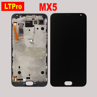 100 Tested Best Working Black White MX5 Frame Touch Screen Digitizer LCD Display Assembly For Meizu
