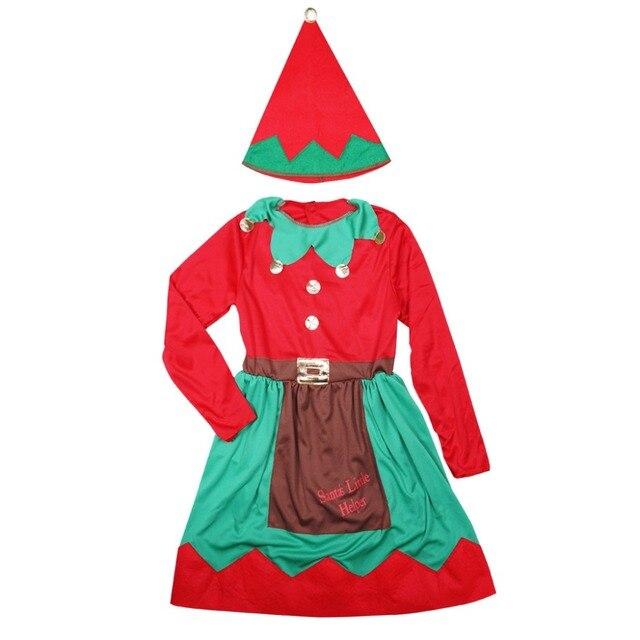 Beste Prijs Kinderen Kerst Kostuums Meisje Elf Fancy Dress Kerstman