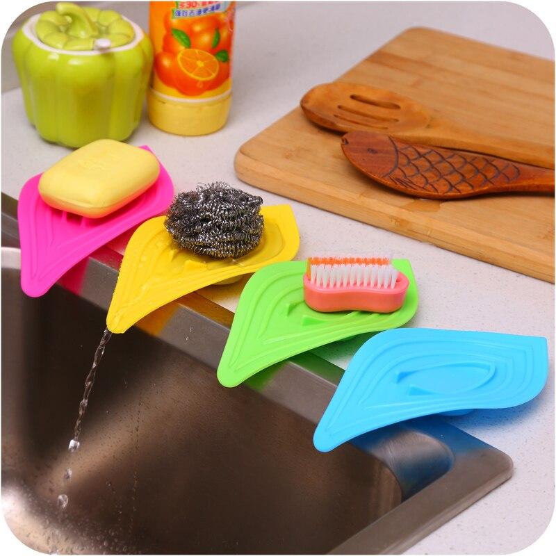 3pcs Portable Shower Drain Slip Leaves Organizer Storage Soap Dish