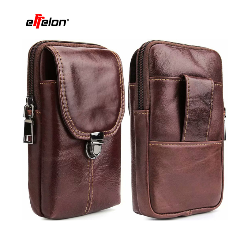 Mobile Phone Bag Case for Samsung S9 S8 plus S7 S6 Note 8 Leather Belt Clip Pouch Holster for iPhone/Sony/Huawei/Asus/Xiaomi